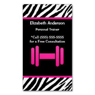 Instructor personal de moda de la pesa de gimnasia tarjetas de visita magnéticas (paquete de 25)