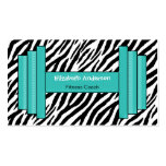 Instructor personal de moda del estampado de zebra plantillas de tarjetas personales