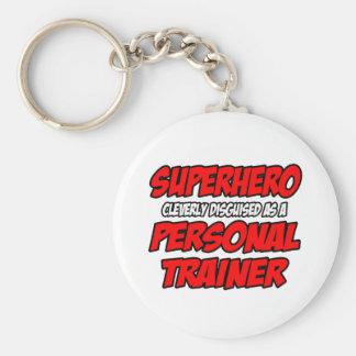 Instructor personal del super héroe… llavero redondo tipo pin