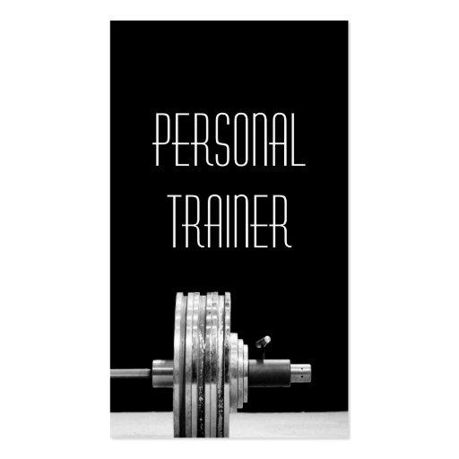 Instructor personal, ejercicio, negocio de la tarjetas de visita
