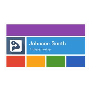 Instructor personal - estilo moderno creativo del  plantilla de tarjeta de negocio