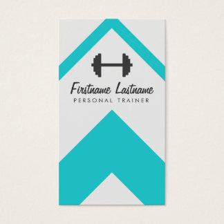 Instructor personal moderno y aptitud tarjetas de visita