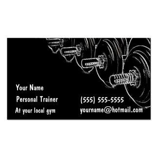 Instructor personal plantilla de tarjeta de negocio
