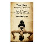 Instructor personal tarjeta de visita