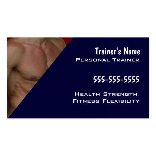 Instructor personal tarjetas de visita
