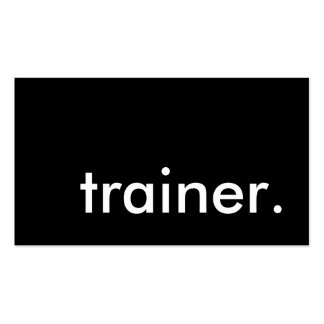instructor. (personalizable del color) tarjeta de negocio