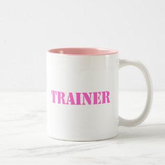 Instructor (rosa) taza de dos tonos