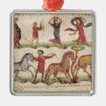 Instructores de caballo ornamento para arbol de navidad