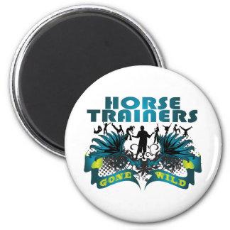 Instructores de caballo idos salvajes imán redondo 5 cm