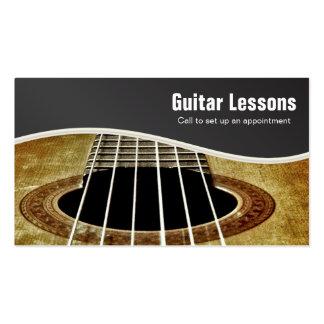 Instructores de las lecciones y de la música de la tarjetas de visita