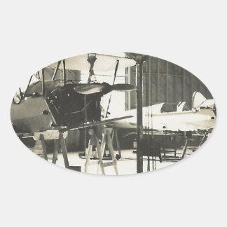 Instructores del biplano en 1941 pegatina ovalada