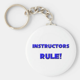 Instructors Rule! Basic Round Button Keychain