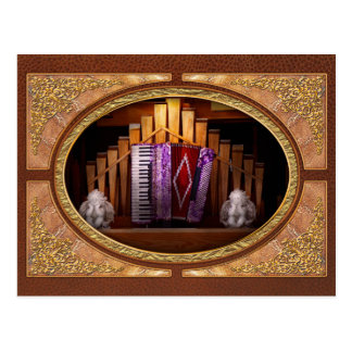Instrument - Accordian - The accordian organ Postcard