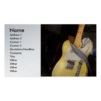 Instrument - Guitar - Playing in a band Business Card