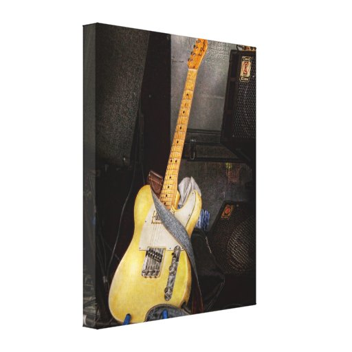 Instrument - Guitar - Playing in a band Canvas Print