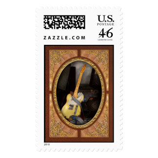 Instrument - Guitar - Playing in a band Postage Stamps