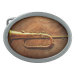 Instrument - Horn - Reveille and Rouse Oval Belt Buckles