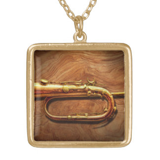 Instrument - Horn - Reveille and Rouse Gold Plated Necklace