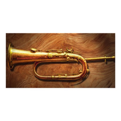 Instrument - Horn - Reveille and Rouse Photo Card Template