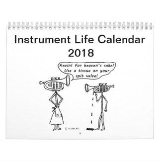 Instrument Life Calendar 2018
