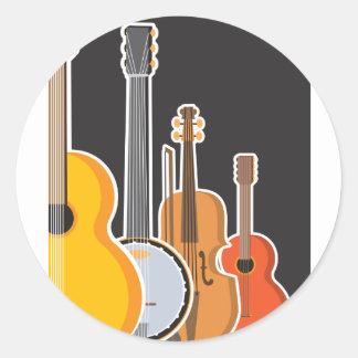 Instrument Medley Classic Round Sticker