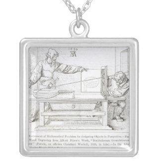 Instrument of Mathematical Precision Silver Plated Necklace