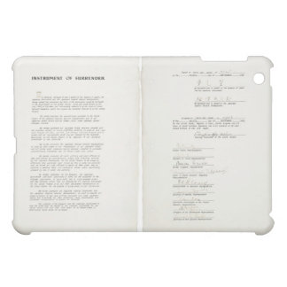Instrument of surrender for Japan World War II iPad Mini Cover