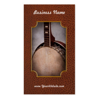 Instrument - String - A typical banjo Business Card