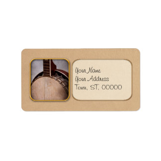 Instrument - String - A typical banjo Custom Address Label