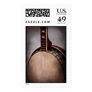 Instrument - String - A typical banjo Postage Stamps