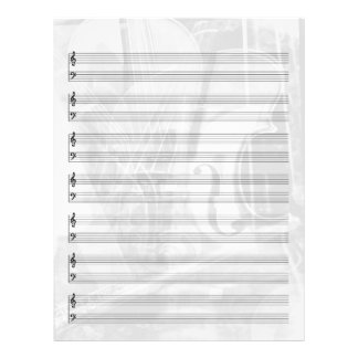 Instrument-Themed Staff Paper in Silver