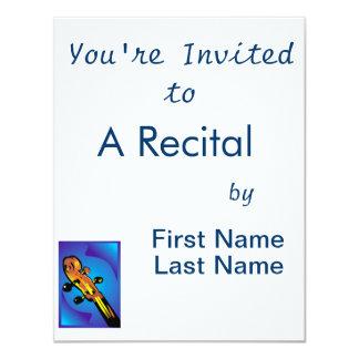 """instrumento atado cuatro clavijas headstock.png invitación 4.25"""" x 5.5"""""""