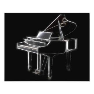 Instrumento clásico musical del piano de cola tarjetones