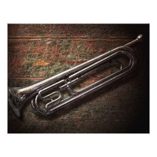 """Instrumento - cuerno - el bugle folleto 8.5"""" x 11"""""""