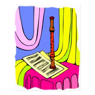 Instrumento de instrumento de viento de madera y g postales