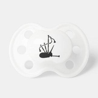Instrumento de la gaita chupetes para bebes