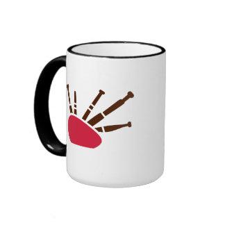 Instrumento de la gaita taza de café