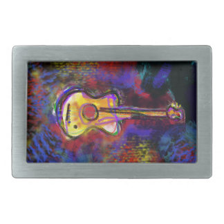 instrumento de la guitarra de la música hebillas cinturón rectangulares