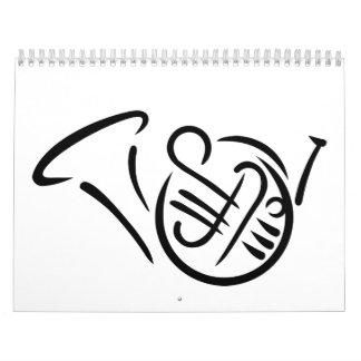 Instrumento de la trompa calendarios