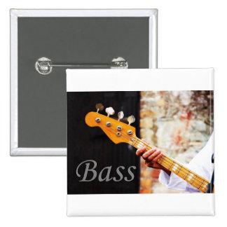 Instrumento de música de la guitarra baja pin cuadrado