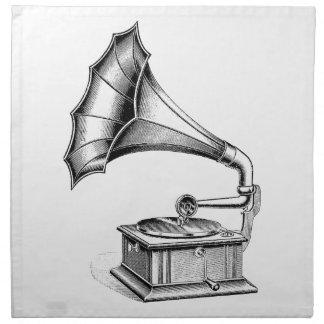 Instrumento de música del tocadiscos del fonógrafo servilleta de papel