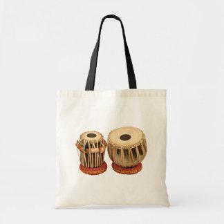 Instrumento de percusión indio determinado hermoso bolsas de mano