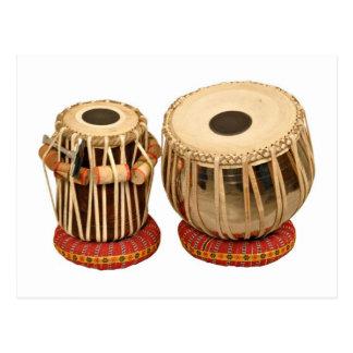 Instrumento de percusión indio determinado hermoso postal