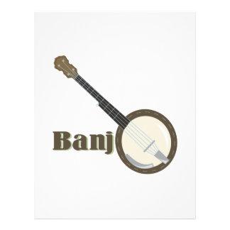 Instrumento del banjo plantilla de membrete
