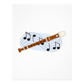 Instrumento del registrador de la música plantillas de membrete