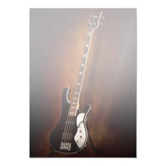 Instrumento - guitarra - alto atado invitación 12,7 x 17,8 cm