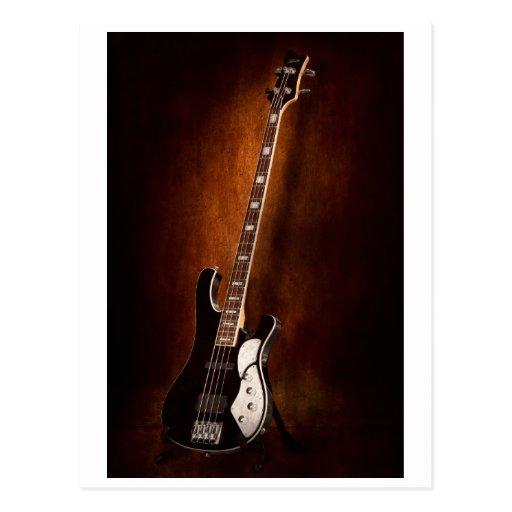 Instrumento - guitarra - alto atado tarjeta postal