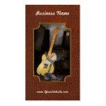 Instrumento - guitarra - que juega en una banda plantillas de tarjetas de visita