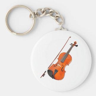 Instrumento musical de la viola hermosa llavero redondo tipo pin