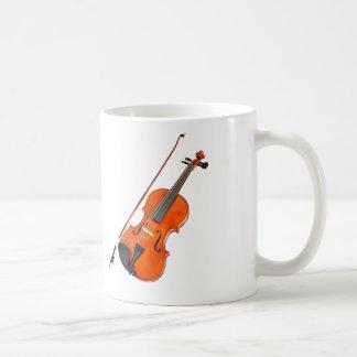 Instrumento musical de la viola hermosa tazas